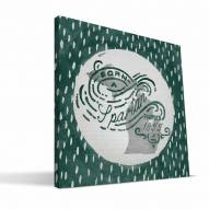 "Michigan State Spartans 12"" x 12"" Born a Fan Canvas Print"
