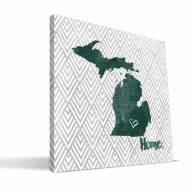 "Michigan State Spartans 12"" x 12"" Home Canvas Print"