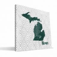"Michigan State Spartans 12"" x 12"" Home Canvas Print"