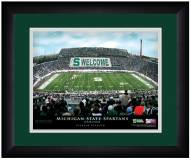 Michigan State Spartans 13 x 16 Personalized Framed Stadium Print