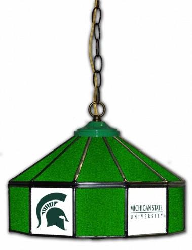 "Michigan State Spartans 14"" Glass Pub Lamp"