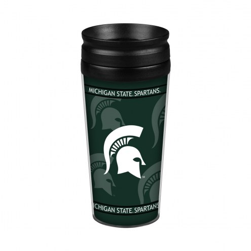 Michigan State Spartans 14 oz. Full Wrap Travel Mug