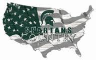 "Michigan State Spartans 15"" USA Flag Cutout Sign"