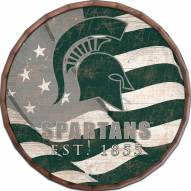"Michigan State Spartans 16"" Flag Barrel Top"