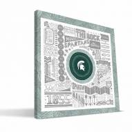 "Michigan State Spartans 16"" x 16"" Pictograph Canvas Print"
