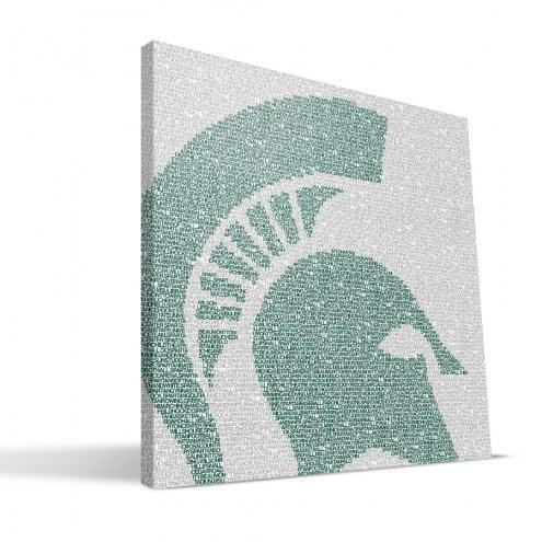 "Michigan State Spartans 16"" x 16"" Typo Canvas Print"