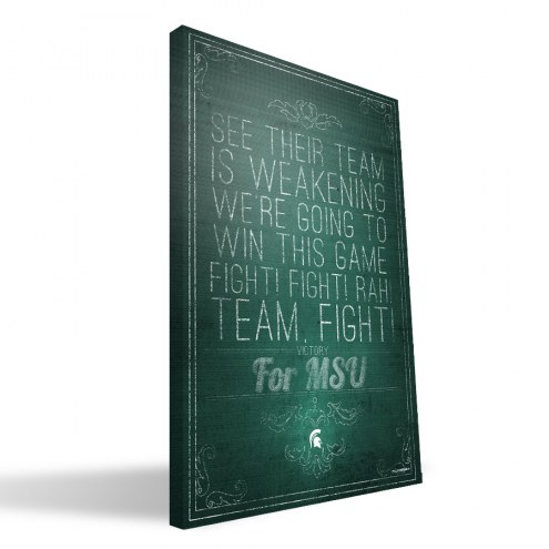 """Michigan State Spartans 16"""" x 24"""" Song Canvas Print"""