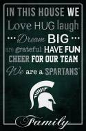 """Michigan State Spartans 17"""" x 26"""" In This House Sign"""