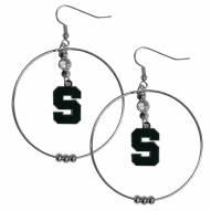 """Michigan State Spartans 2"""" Hoop Earrings"""