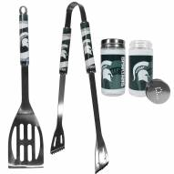 Michigan State Spartans 2 Piece BBQ Set with Tailgate Salt & Pepper Shakers