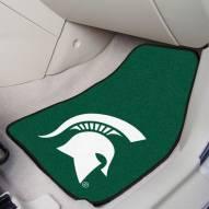 Michigan State Spartans 2-Piece Carpet Car Mats