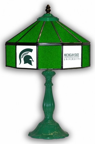 """Michigan State Spartans 21"""" Glass Table Lamp"""