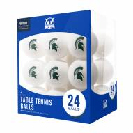 Michigan State Spartans 24 Count Ping Pong Balls