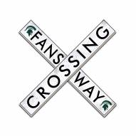 """Michigan State Spartans 24"""" Fans Way Crossing Wall Art"""