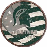 "Michigan State Spartans 24"" Flag Barrel Top"