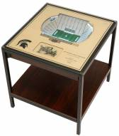 Michigan State Spartans 25-Layer StadiumViews Lighted End Table