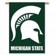 """Michigan State Spartans 28"""" x 40"""" Two-Sided Banner"""