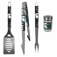 Michigan State Spartans 3 Piece Tailgater BBQ Set and Season Shaker