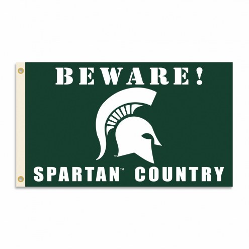 Michigan State Spartans 3' x 5' Beware Flag