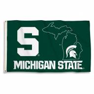Michigan State Spartans 3' x 5' State Outline Flag
