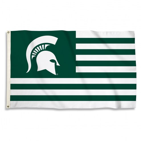 Michigan State Spartans 3' x 5' Stripes Flag