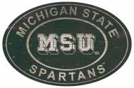 """Michigan State Spartans 46"""" Heritage Logo Oval Sign"""