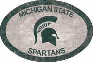 """Michigan State Spartans 46"""" Team Color Oval Sign"""