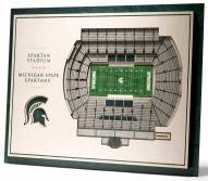 Michigan State Spartans 5-Layer StadiumViews 3D Wall Art