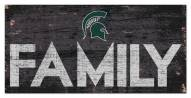 """Michigan State Spartans 6"""" x 12"""" Family Sign"""