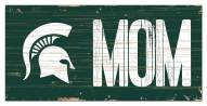"""Michigan State Spartans 6"""" x 12"""" Mom Sign"""