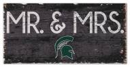 "Michigan State Spartans 6"" x 12"" Mr. & Mrs. Sign"