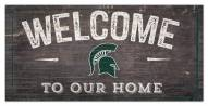 """Michigan State Spartans 6"""" x 12"""" Welcome Sign"""