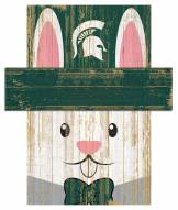 """Michigan State Spartans 6"""" x 5"""" Easter Bunny Head"""