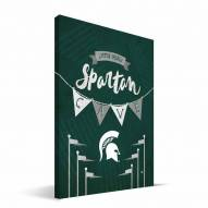 "Michigan State Spartans 8"" x 12"" Little Man Canvas Print"