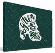 "Michigan State Spartans 8"" x 12"" Mascot Canvas Print"