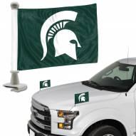 Michigan State Spartans Ambassador Hood & Trunk Car Flag