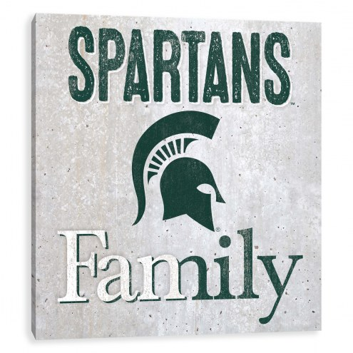 Michigan State Spartans Fanmily Printed Concrete Wall Decor