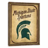 Michigan State Spartans Vintage Card Recessed Box Wall Decor