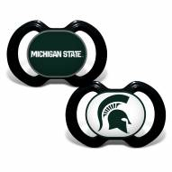 Michigan State Spartans Baby Pacifier 2-Pack