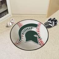 Michigan State Spartans Baseball Rug