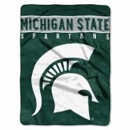 Michigan State Spartans Basic Raschel Blanket