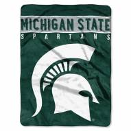 Michigan State Spartans Basic Raschel Blanket
