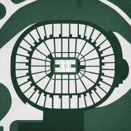 Michigan State Spartans Basketball Arena Print
