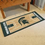 Michigan State Spartans Basketball Court Runner Rug