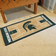 Michigan State Spartans Basketball Court Runner Rug