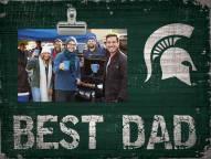 Michigan State Spartans Best Dad Clip Frame