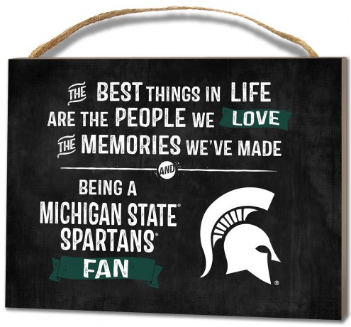 Michigan State Spartans Best Things Small Plaque