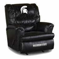 Michigan State Spartans Big Daddy Leather Recliner