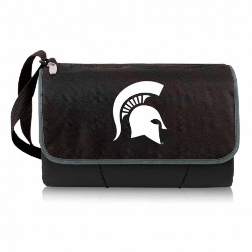 Michigan State Spartans Black Blanket Tote