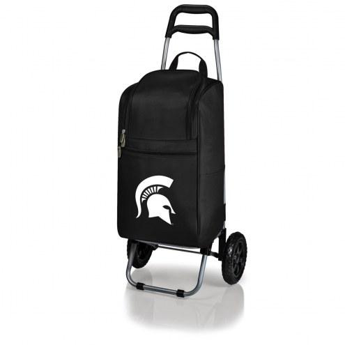 Michigan State Spartans Black Cart Cooler